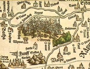 Mohácsi csata a Lazarus-féle térképen